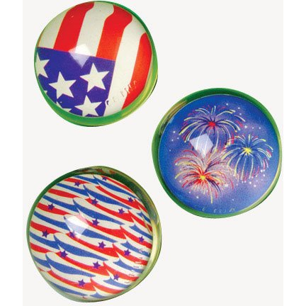 35mm Patriotic Bouncy Ball 1 Dozen - 1