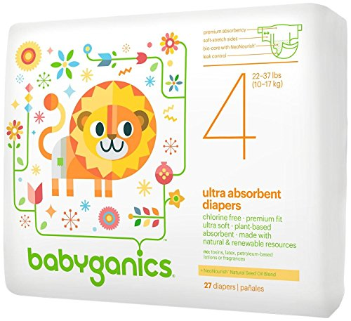 Babyganics Diapers - Size 4 - 27 ct - 1