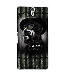 PrintDhaba Man with Attitude D-2972 Back Case Cover for SONY XPERIA C5 ULTRA (Multi-Coloured)