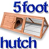 5ft Rabbit Hutch Run Guinea Hutches Chick Poultry Playpen Home Pet Tortoise Wood