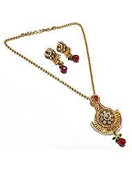 Latest Pearl Locket Set.Natural Beauty One Gram Gold Plated Kundan Meena Polki Jade Jadau Jewelry 5339