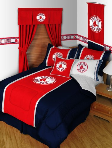 BOSTON RED SOX 5PC TWIN BEDDING SET, Comforter Sheets Sham, NEW MLB Baseball Boys