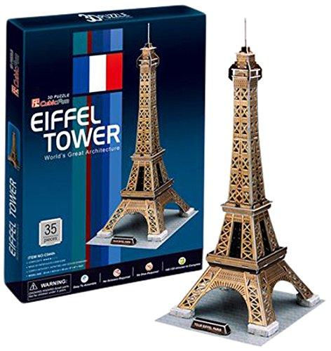 CubicFun C044H Eiffel Tower Puzzle, Gold