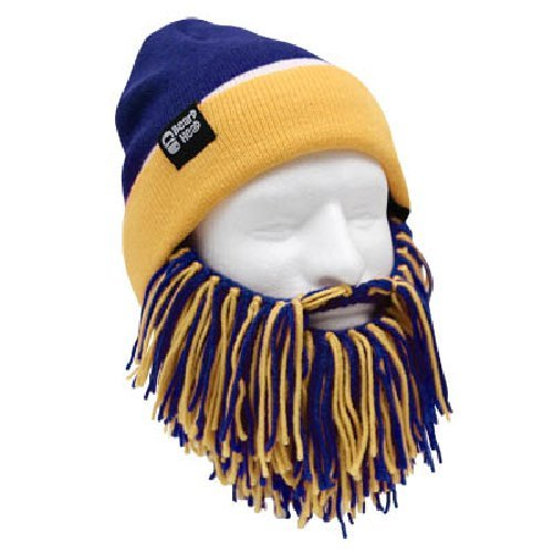 NFL San Diego Chargers Beanie with Barbarian Beard, Blue/Yellow
