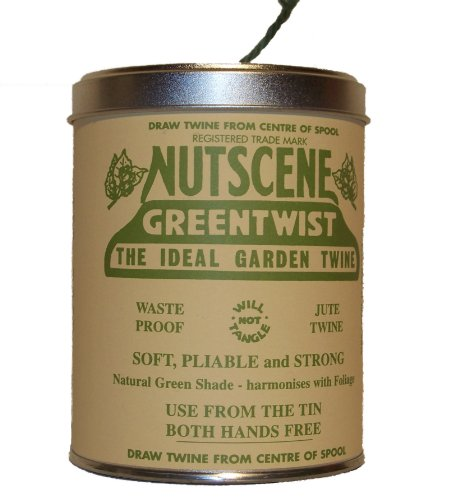 Bosmere K815G Nutscene Tin of Twine, 3-Ply, 492-Feet, Green
