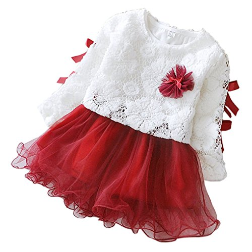 YOMIYOKA Baby Girls 6M - 3Y Two Piece Suit Outerwear And Dresses (1 Year, Red)