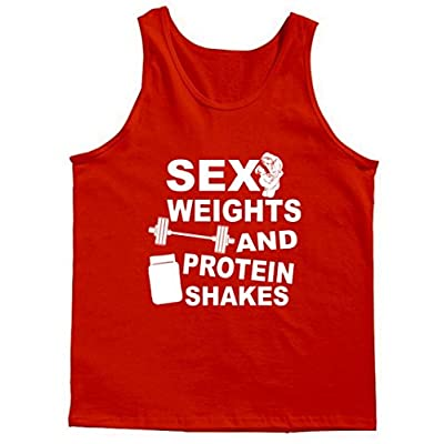 Sex Weights Protein Shakes Tank Top