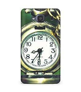 Amez designer printed 3d premium high quality back case cover for Xiaomi Redmi 2S (Pocket Watch Clocks Macro)