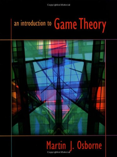 Cover for An Introduction to Game Theory