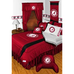 ALABAMA CRIMSON TIDE FULL 15 PIECE BEDDING COMFORTER BED IN A BAG (COMFORTER, 1 -... by ALABAMA CRIMSON TIDE