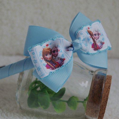CJB Frozen Elsa Anna Hair Clips Headband Set Light Blue (US Seller)