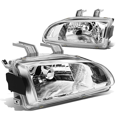 Honda Civic EG/EH/EJ Pair of OE Fitment Chrome Housing Headlights (Honda Civic 92 95 Headlights compare prices)