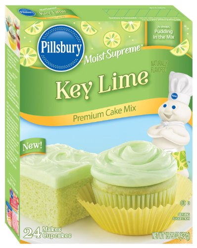 Pillsbury Moist Supreme Key Lime Premium Cake Mix 15.25oz (Pack of 2)