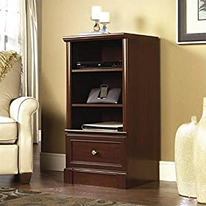 Sauder Palladia Technology Pier Free Standing Cabinet, Select Cherry Finish