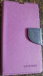 DW Mercury Fancy Diary CARD Wallet Flip Case Back Cover for Micromax YU YUPHORIA ( Purple )