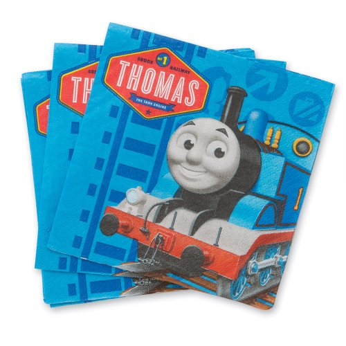 Thomas The Train Party Beverage Napkins - Party Supplies - 16 per Pack