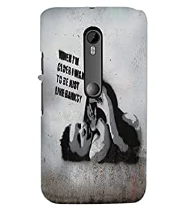 PrintDhaba Quote D-5438 Back Case Cover for MOTOROLA MOTO G3 (Multi-Coloured)