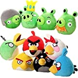 E.a@market Angry Birds Green Skin Pigs Plush Toys 10pcs 6inch/15cm