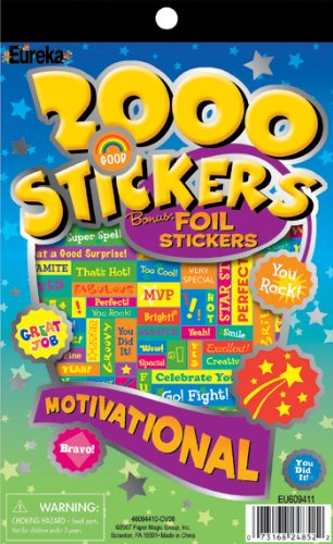 13 Pack EUREKA 2000 MOTIVATIONAL STICKER BOOK