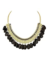 Ada Fashion Attractive Necklace In Black & Golden Combo For Women