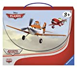 Ravensburger Disney Planes: In the Air (4 Shaped Puzzles in a Suitcase Box with Handle (10, 12, 14, 16-Piece)