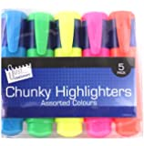 Just Stationery Chunky Highlighter (Pack of 5)