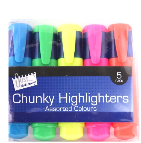just-stationery-chunky-highlighter-pack-of-5