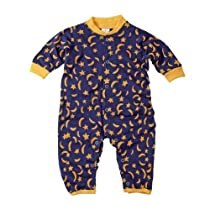 Baby Romper Blue with Yellow Moons and Stars 18 mths