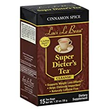 Laci Le Beau Super Dieter's Tea Cleanse, Cinnamon Spice, 15 tea bags 1.32 oz (38 g)