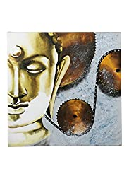 Rang Rage - Hand-painted Metallic Buddha Classic Painting - Pack of 1