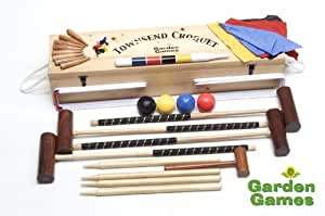 Pro Croquet Set in a wooden box. The Townsend from Garden Games