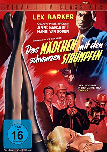 Das Mädchen mit den schwarzen Strümpfen (The Girl in Black Stockings) - Thriller mit Lex Barker und Anne Bancroft (Pidax Film-Klassiker)