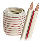 AudioQuest X-2 bulk speaker cable - 14 AWG 30' (9.14m) spool - white jacket