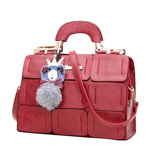 Mme sacs/Grilles sac à bandoulière/suture de voiture grand sac Boston/sac à main/Messenger Bag