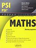 Maths PSI/PSI* Programme 2014
