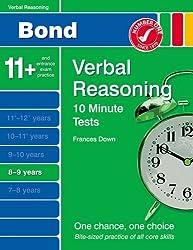 New Bond 10 Minute Tests Verbal Reasoning 8-9 Years
