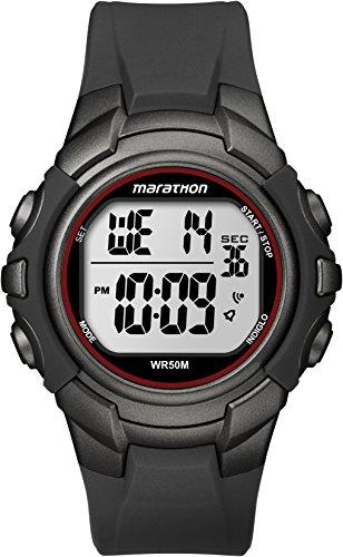 timex-homme-t5k642-marathon-quartz-digital-cadran-gris-bracelet-resine-noir