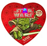 Star Wars Character Jedi Yoda Light Up Candy Box with Milk Chocolate Heart Candies
