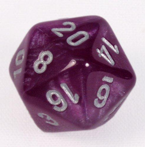 Polyhedral 7-Die Velvet Dice Set - Purple With Silver