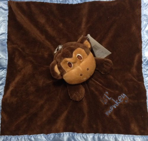 Baby Essentials Brown and Blue Monkey Lovey - 1