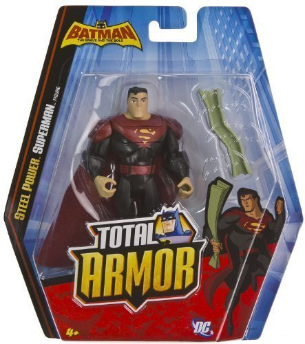 "Steel Power Superman ~5"" Figure: Batman The Brave and the Bold Total Armor Series"