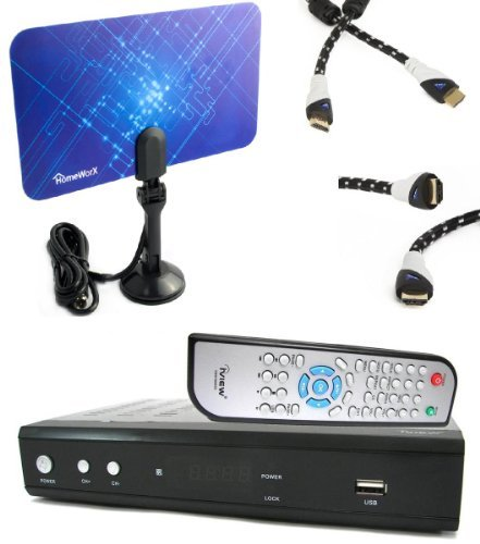 Fantastic Deal! iView HDTV 3500STB DTV Converter Box BUNDLE + Flat Digital Indoor Tv Antenna + Aurum...