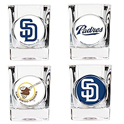 MLB Four Piece Square Shot Glass Set