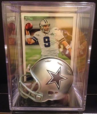 Dallas Cowboys NFL Helmet Shadowbox w/ Tony Romo card