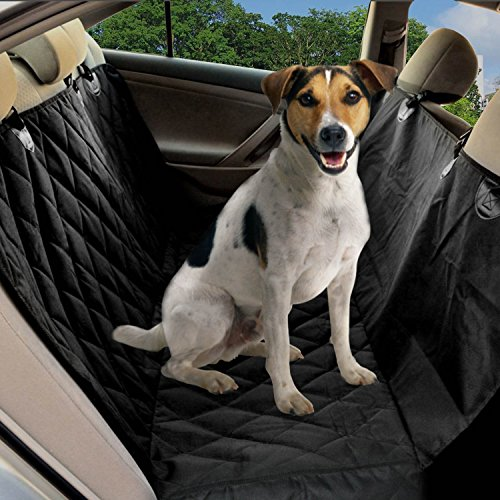 dog seat covers pet car seat protector with nonslip backing hammock convertible and side flaps. Black Bedroom Furniture Sets. Home Design Ideas