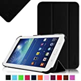 Fintie Samsung Galaxy Tab 3 Lite 7.0 Slim Shell Case Cover - Ultra Slim Lightweight Stand for SM-T110 WI-FI and SM-T111 3G - Black