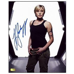 Katee Sackhoff Autographed Battlestar Galactica White P