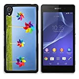 MSD Premium Sony Xperia Z2 Aluminum Backplate Bumper Snap Case IMAGE ID 31309759 Group of Pinwheels on grass