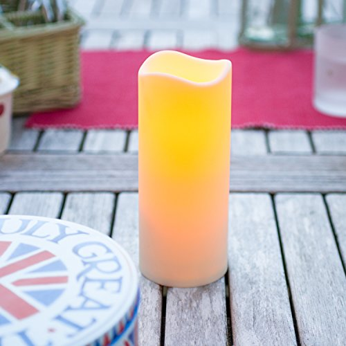 Set of 3 Outdoor Battery Operated LED Candles with 6 Hour Timer by Lights4fun