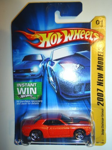 Hot Wheels 2007-001/180 New Models 01/36 Dodge Challenger Concept On Instant Win Card 1:64 Scale